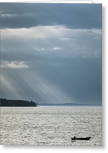 Solitary Activities Greeting Cards - Sea and Solitude II Greeting Card by Lars Hallstrom