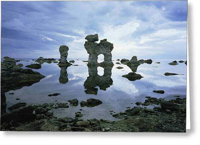 Reflecting Water Greeting Cards - Sea Arch Greeting Card by Bjorn Svensson