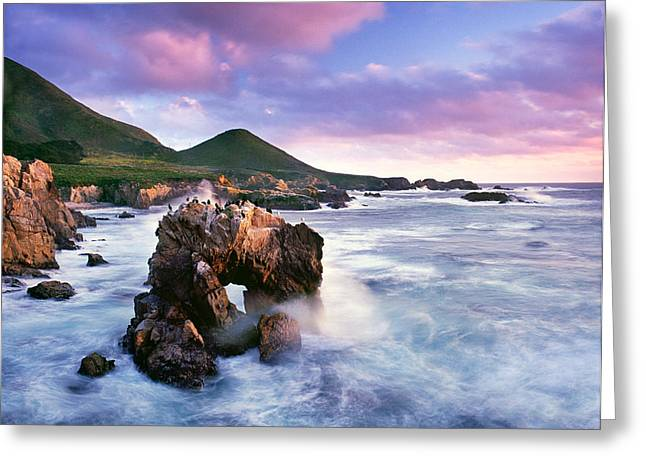 Coast Hwy Ca Greeting Cards - Sea Arch Greeting Card by Edward Mendes