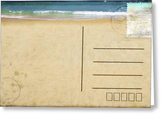 Tears Greeting Cards - Sea Beach On Postcard  Greeting Card by Setsiri Silapasuwanchai