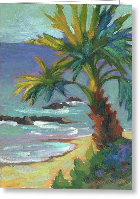 Costa Paintings Greeting Cards - Sea Breeze Greeting Card by Diane McClary