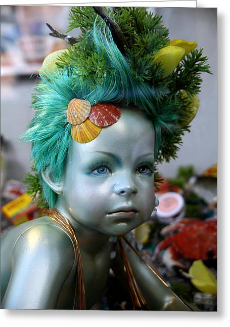 Sea Child Greeting Card by Jez C Self