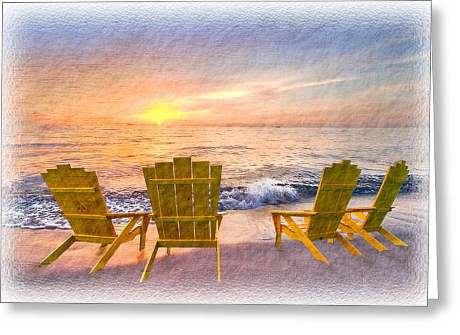 Lounge Photographs Greeting Cards - Sea Dreams Greeting Card by Debra and Dave Vanderlaan