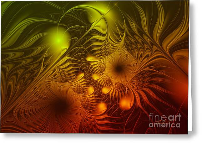 Repetition Greeting Cards - Sea Dwellers Greeting Card by Jutta Maria Pusl