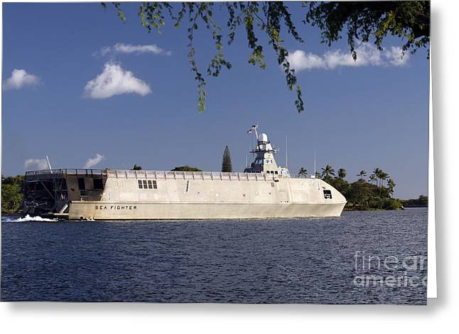 Catamaran Greeting Cards - Sea Fighter, Fsf-1, Littoral Surface Greeting Card by Michael Wood