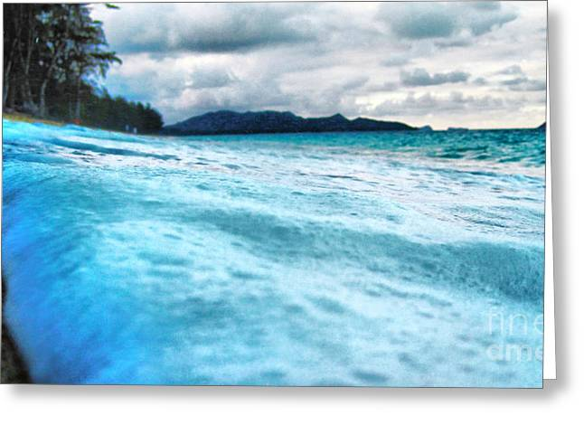 Surface Tension Greeting Cards - Sea Foam Greeting Card by Cheryl Young