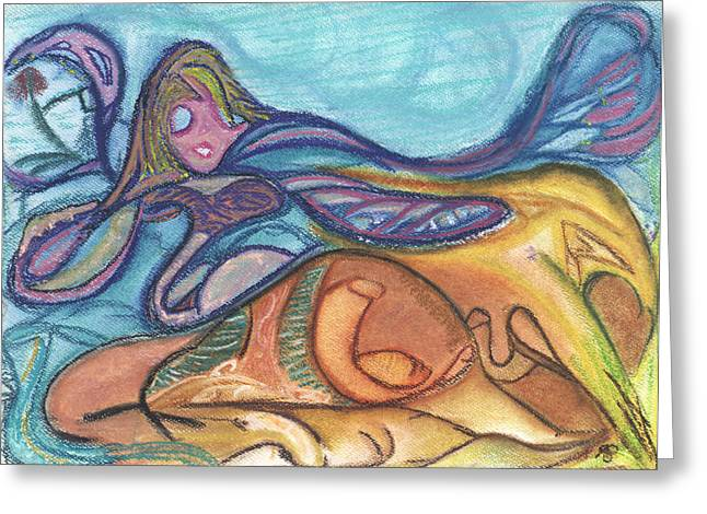Glass Pastels Greeting Cards - Sea Glass Surf Blown Greeting Card by Stu Hanson