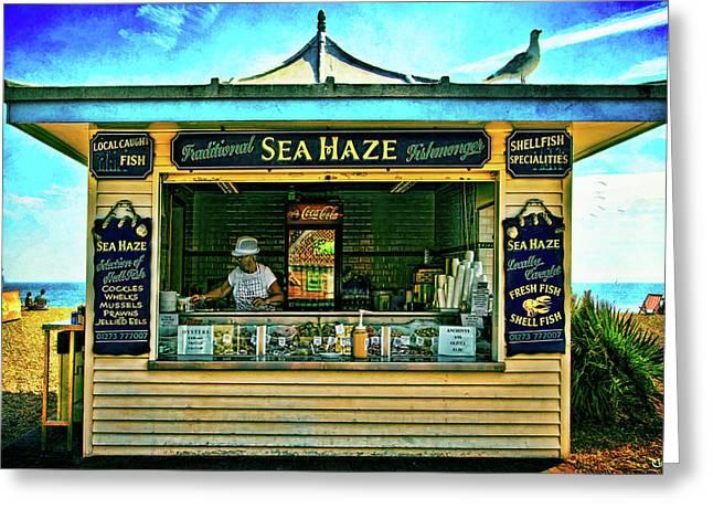 Food Kiosk Greeting Cards - Sea Haze Greeting Card by Chris Lord