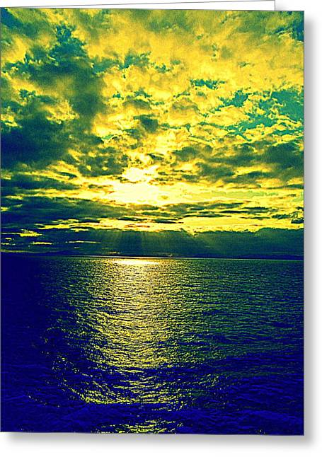 Cumulus Nimbus Greeting Cards - Sea Inspiration Greeting Card by Randall Weidner
