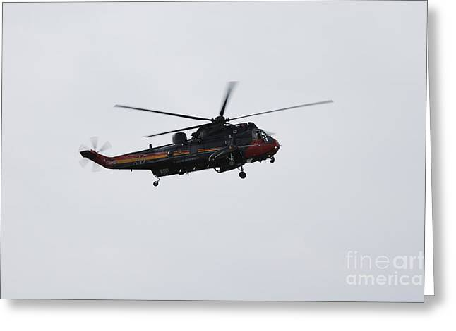 Sea King Helicopter Of The Belgian Army Greeting Card by Luc De Jaeger