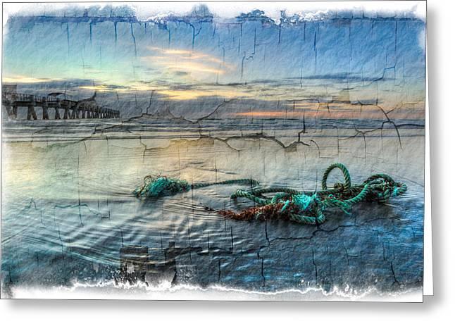 Sea Knot Greeting Card by Debra and Dave Vanderlaan