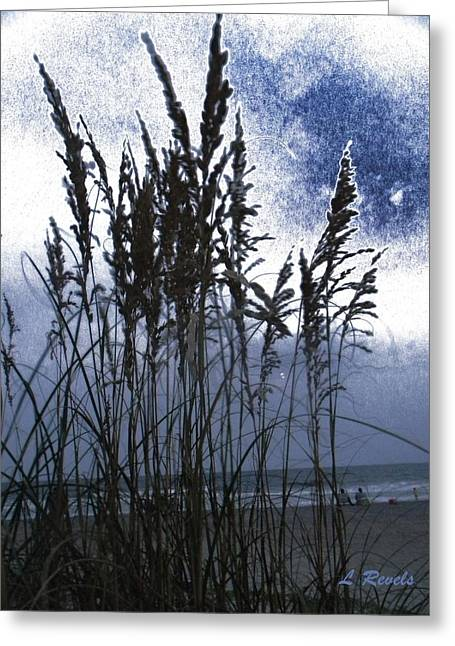 Sanddunes Greeting Cards - Sea Oats on Tybee Greeting Card by Leslie Revels Andrews