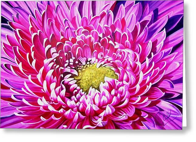 Sea Of Petals Greeting Card by Karen Casciani