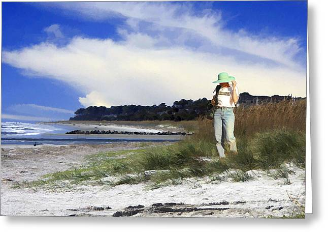 Impressionist Photography Greeting Cards - Sea Sand And Breeze Greeting Card by Tom Griffithe
