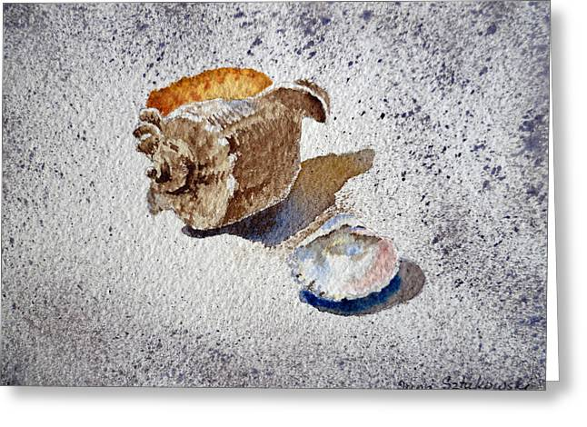 Sea Shell Art Paintings Greeting Cards - Sea Shells Greeting Card by Irina Sztukowski