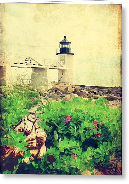 Old Maine Houses Greeting Cards - Sea Side Greeting Card by Darren Fisher