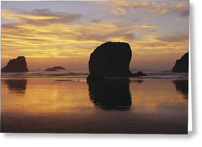 Geomorphology Greeting Cards - Sea Stacks Greeting Card by Chromosohm Media Inc and Photo Researchers