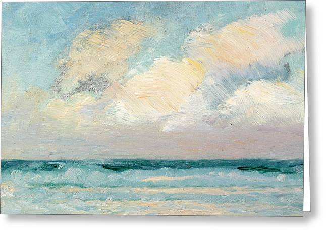 Calm Seas Greeting Cards - Sea Study - Morning Greeting Card by AS Stokes