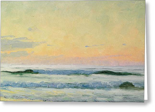 The Sea Greeting Cards - Sea Study Greeting Card by AS Stokes