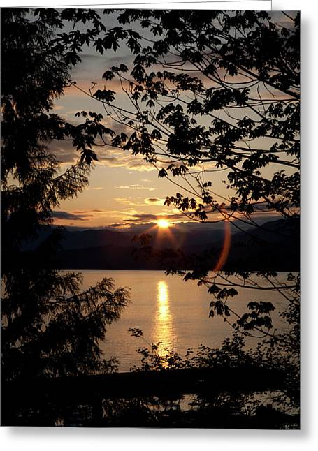 Porteau Cove Greeting Cards - Sea to Sky Sunset in May Greeting Card by Monte Arnold