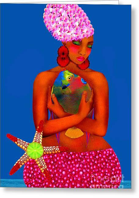 Empowerment Greeting Cards - Sea Urchin Greeting Card by Mucha Kachidza