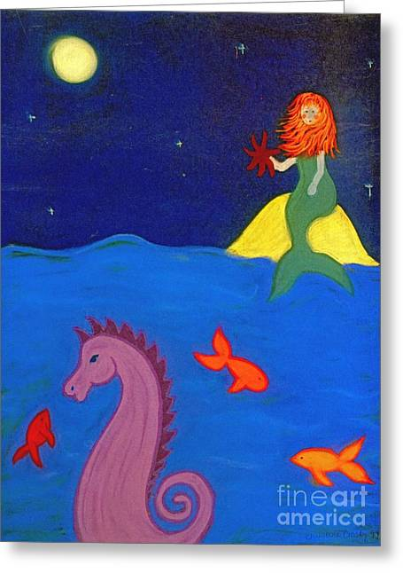 Seahorse Pastels Greeting Cards - Sea Wishes Greeting Card by Christine Crosby