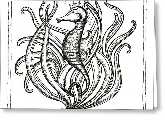 Sea Horse Greeting Cards - Seahorse Greeting Card by Stephanie Troxell
