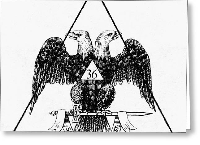 Protest Greeting Cards - Seal: Freemasonry Greeting Card by Granger