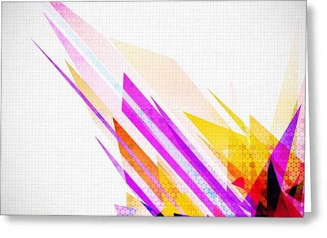 Shine Digital Art Greeting Cards - Seamless honeycomb pattern Greeting Card by Setsiri Silapasuwanchai