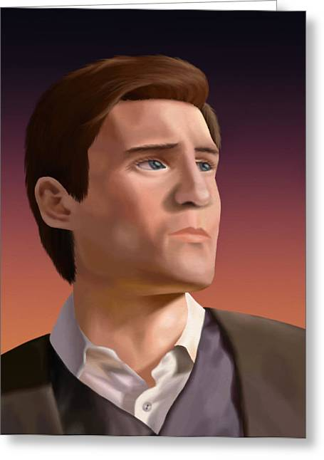 Joss Whedon Greeting Cards - Sean Maher Greeting Card by Lauren Cawthron