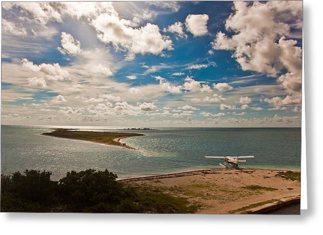 Dry Tortugas Greeting Cards - Seaplane Greeting Card by Patrick  Flynn