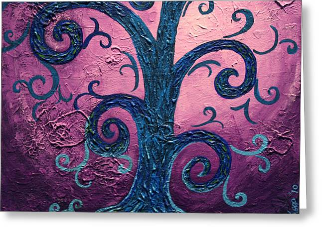 Tree Roots Mixed Media Greeting Cards - Searching Greeting Card by Amy Parker