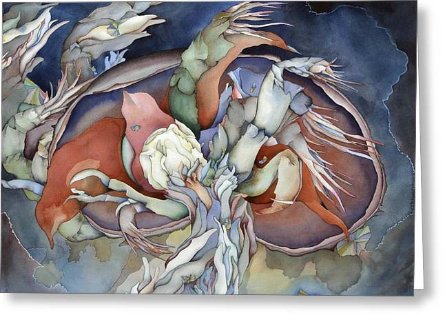 Sealife Greeting Cards - Searching deep within Greeting Card by Liduine Bekman