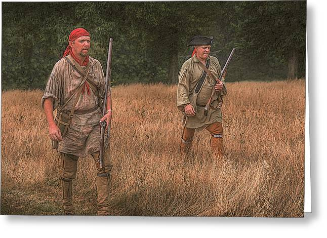 Frontiersman Greeting Cards - Searching for New Land Greeting Card by Randy Steele