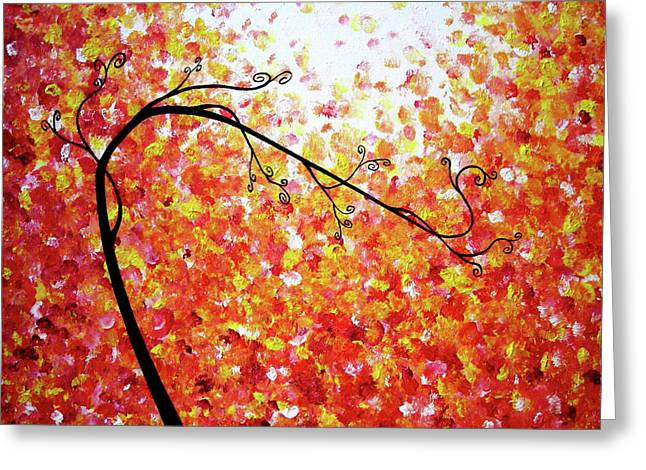 Red Art Sculptures Greeting Cards - Searching For Serenity Greeting Card by Daniel Lafferty