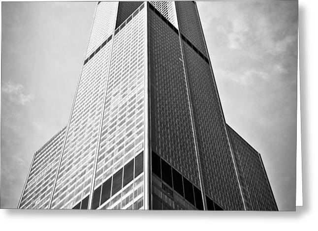 Sears-Willis Tower Chicago Greeting Card by Paul Velgos