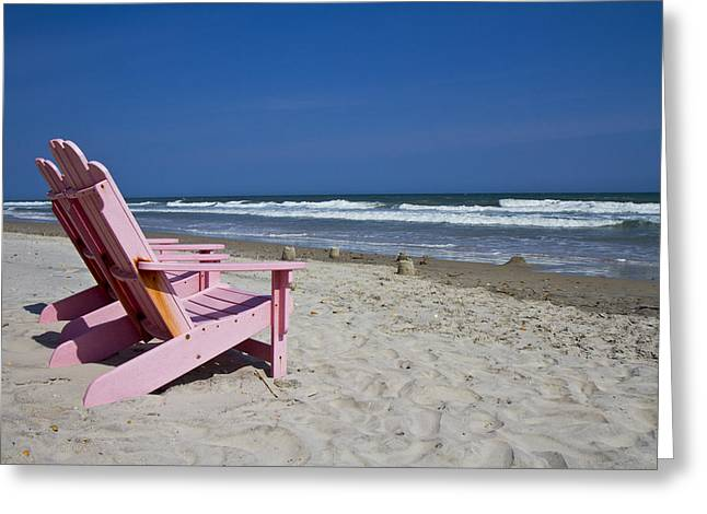 Seas The Chair  Greeting Card by Betsy Knapp