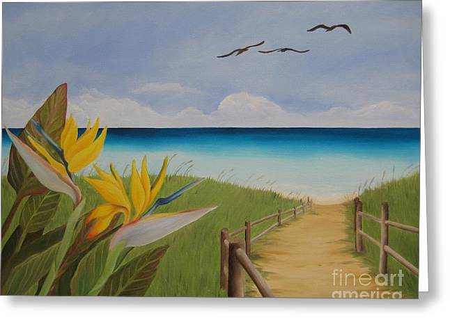 Noewi Greeting Cards - Seascape Greeting Card by Jindra Noewi