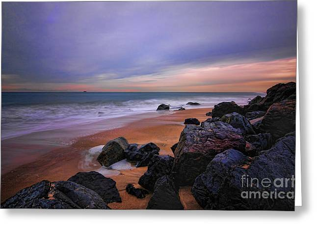 Seascape Greeting Card by Paul Ward