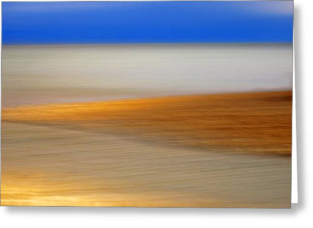 Beachfront Greeting Cards - Seascape Greeting Card by Silke Magino
