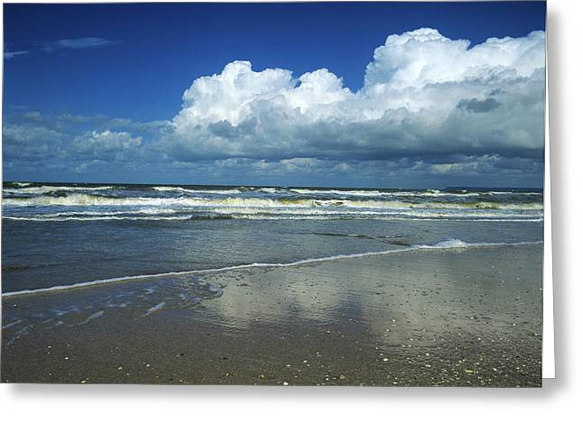 North Sea Greeting Cards - Seascape.Normandy.France Greeting Card by Bernard Jaubert