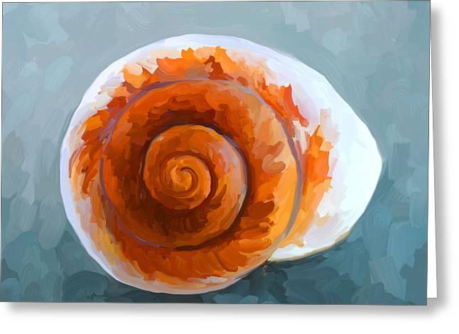 Sea Shell Art Greeting Cards - SeaShell II Greeting Card by Jai Johnson