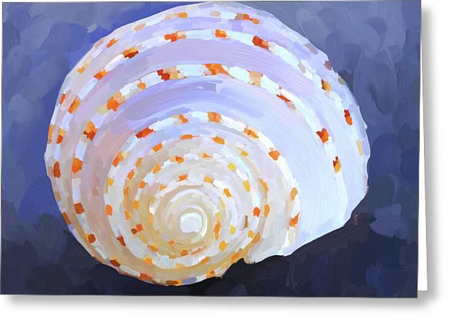 Sea Shell Art Greeting Cards - SeaShell IV Greeting Card by Jai Johnson