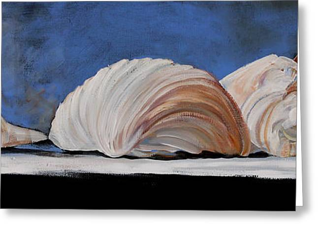 Seashell Picture Paintings Greeting Cards - Seashells Greeting Card by Toni Grote
