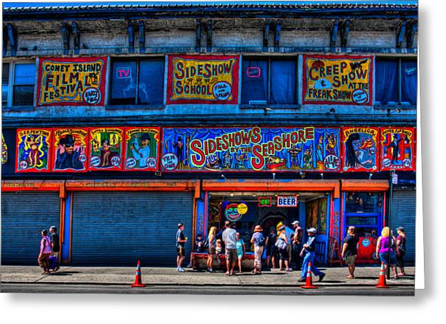 Geek Photographs Greeting Cards - Seashore Sideshow Greeting Card by Chris Lord