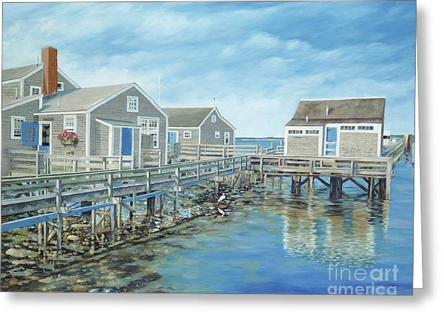 Danielle Perry Greeting Cards - Seaside Cottages Greeting Card by Danielle  Perry