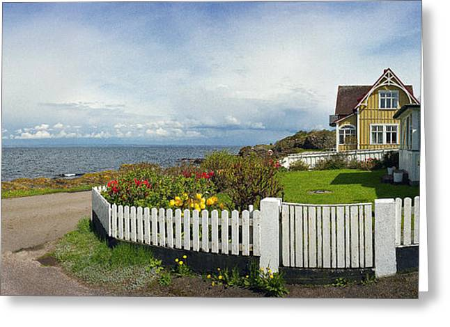 Kattegat Greeting Cards - Seaside House Greeting Card by Jan Faul