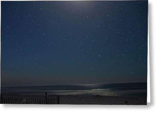 Seaside moonset Greeting Card by Charles Warren