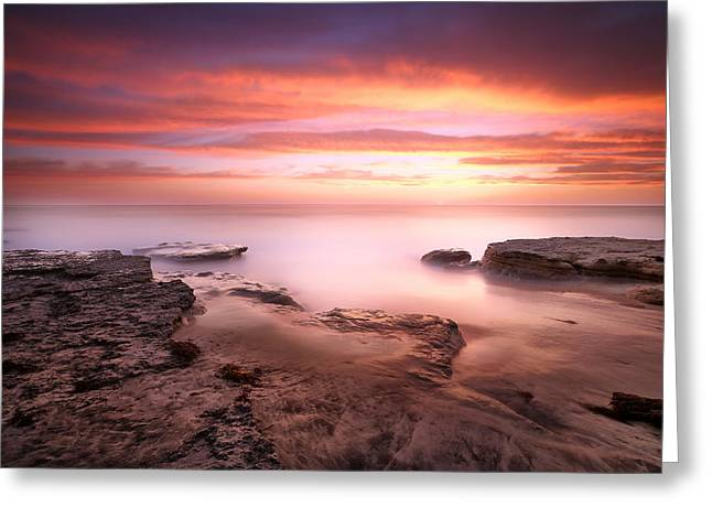 Seaside Reef Sunset 4 Greeting Card by Larry Marshall