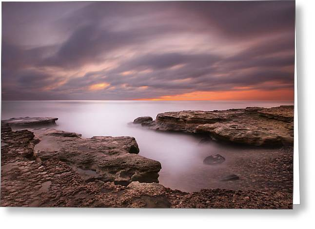 California Art Greeting Cards - Seaside Reef Sunset 5 Greeting Card by Larry Marshall